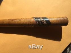 Vintage New York Yankees BABE RUTH UNDERWEAR BASEBALL MINI-BAT with Store Label