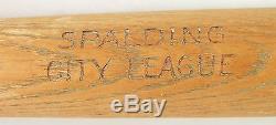 Vintage Old Early 1900s Spalding City League Baseball Bat-38 Ounces