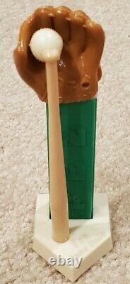 Vintage Pez / Baseball Set / Glove Home Plate Bat Ball / No Feet