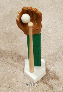 Vintage Pez Dispenser Baseball Glove Bat Home Plate Ball / Perfect & Clean