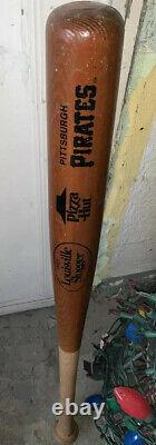 Vintage Pittsburgh Pirates Pizza Hut Baseball Bat Pro Louisville Slugger MLB USA