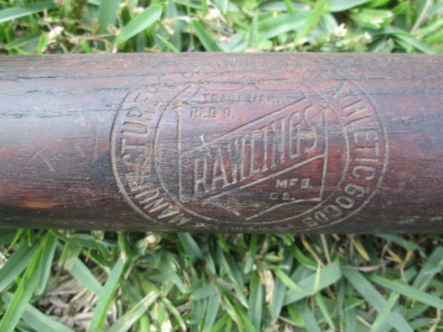 Vintage Rawlings Turn Of The Century Antique Baseball Bat