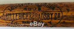 Vintage Rare Jake Daubert 1921-22 H&b 40 Jd Baseball Bat 1919 Cincinnati Reds