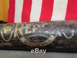 Vintage Reach early Wood Baseball Bat Decal Logo 34'Sweet Spot' Great Display