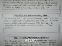 Vintage Spalding 1926-1934 Old Hickory Model D baseball bat No. 300 Air dried 34