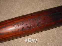 Vintage Spalding League Baseball Bat Turn of the Century