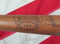Vintage Spalding Wood 126 Baseball Bat Ken Keltner Collegiate Model Indians 34
