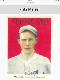 Vintage Spalding baseball bat Fritz Maisel gamer