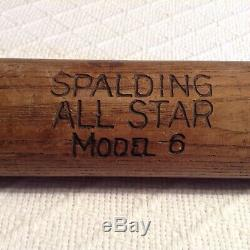 Vintage Spaulding All Star Model 6 Baseball Bat Ca. 1912