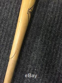 Vintage Stan Musial stan The Man Personal Model Baseball Bat 34.5 Cracked Bat