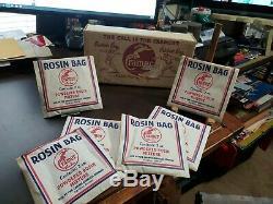 Vintage Store Display Box & 8 Bags 1940-50 CRAMER ROSIN BAGS FOR BASEBALL BATS
