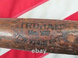 Vintage Trojan Sporting Goods Antique Wood Baseball Bat No. 55 New York City 34
