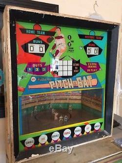 Vintage Williams Pitch & Bat Baseball Theme Pinball Machine Coinop Coin Op Rare