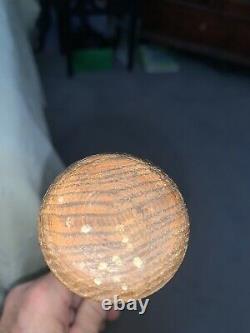 Vintage Wood Baseball Bat 35 Tapered Handle Stamped Missouri Unknown Age (rare)