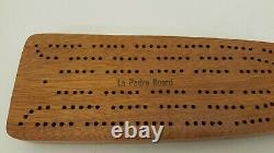 Vintage Wood Cribbage Board Handmade 1984 World Series La Padre Baseball Bat