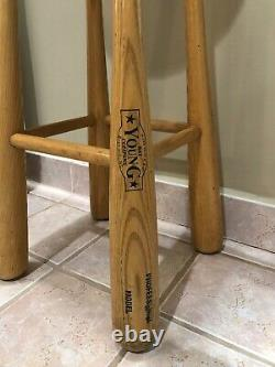 Vintage Young Bat Co. Baseball Bat Bar Stools- Set of 4 Newly Recovered