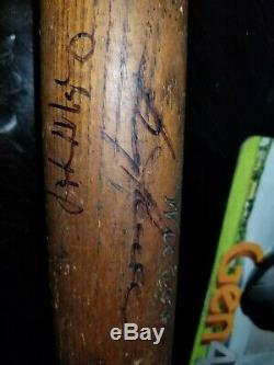Vintage, antique ('33-'45)AJ reach baseball bat signed by Boog Powell and