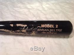 Vintage baseball bat Cleveland Indians Adrian Beltre gamer signed