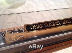 Vintage baseball bat Cleveland Indians Omar Vizquel gamer