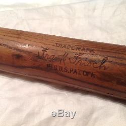 Vintage baseball bat Frankie Frisch