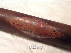 Vintage baseball bat Honus Wagner decal bat