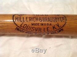 Vintage baseball bat Jake Daubert decal