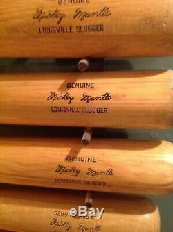 Vintage baseball bat Mickey Mantle set of 7