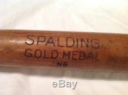Vintage baseball bat Spalding Gold Medal N6