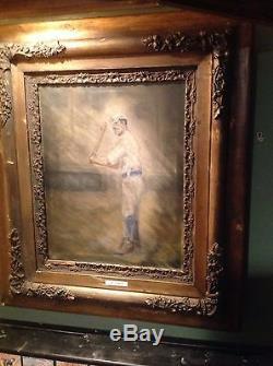 Vintage baseball bat painting The Striker
