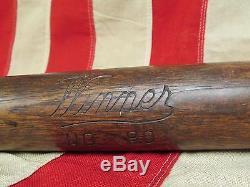 Vintage early Winner Wood Baseball Bat No. 80 League 33 Antique Memorabilia Nice