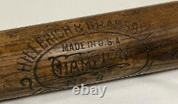 Vtg 1910s Hillerich Bradsby H&B Champion #8 Louisville Slugger Baseball Bat 34