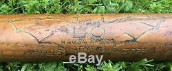 Vtg 1920s 30s Burke Hanna Bat Logo Indoor Outdoor Baseball Bat 33 Athens GA