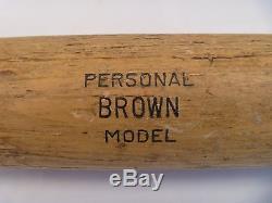 Vtg 1957 Cleveland Indians Dick Brown Rc Year Game-used Adirondack Baseball Bat