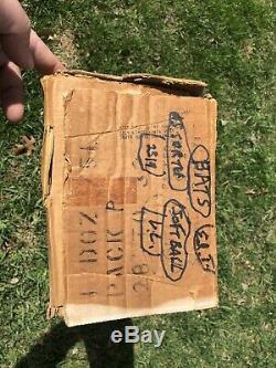 Vtg 1960s Louisville Slugger Hillerich Bradsby Baseball Bat Shipping Box Rare