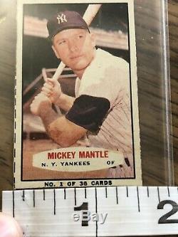 Vtg 1963 Bazooka # 1 MICKEY MANTLE Batting Right Estate Find