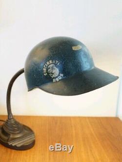 Vtg 60s American Baseball Cap Batting Helmet Fiberglass Lamp Pittsburgh Pirates