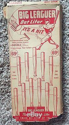 Vtg Big Leaguer Baseball Bat Liter Lighter Display Advertising Display