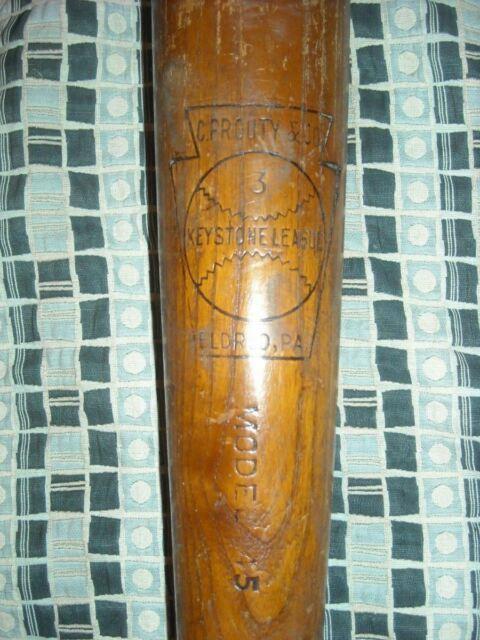 Vtg C. Prouty & Co Keystone League Eldred, Pa Model 45 Baseball Bat Antique
