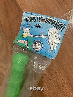 Vtg Halloween Monster Baseball Bat KO Madballs Mad Ball Weird Zombie Ghoul NOS