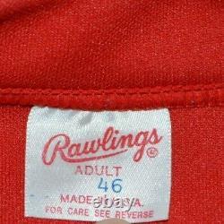 Vtg Montreal Expos Rawlings AUTHENTIC BP Batting Practice Baseball Jersey Sz 46