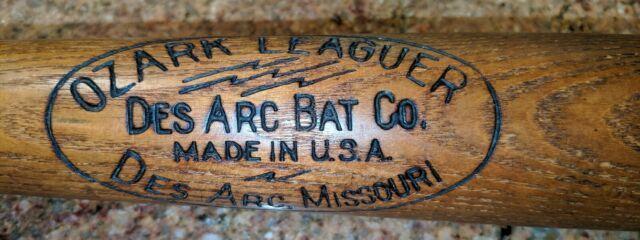 Vtg Rare Des Arc Bat Co Ozark Leaguer Amer League Baseball Bat Lighting Bolts 34