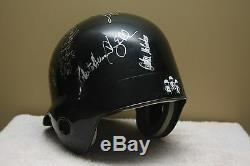 Vtg TAMPA RAYS Game 1990s TEAM SIGNED Baseball Batting helmet WADE BOGGS McGRIFF