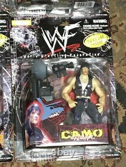 Vtg WWF Jakks CAMO CARNAGE Exclusive Special Issue Complete Set of 6 MOC! WWE