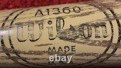 Wilson A1360 Big Leaguer Baseball Bat USA Vintage Ken Harrelson Powerfused Model
