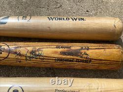 (lot Of 10) Vintage Baseball Bat Unknown Player Used New Seay Jones Broken