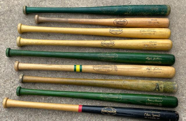 (lot Of 9) Vintage Little League Give Away Baseball Bat Reggie Jackson Tenece A
